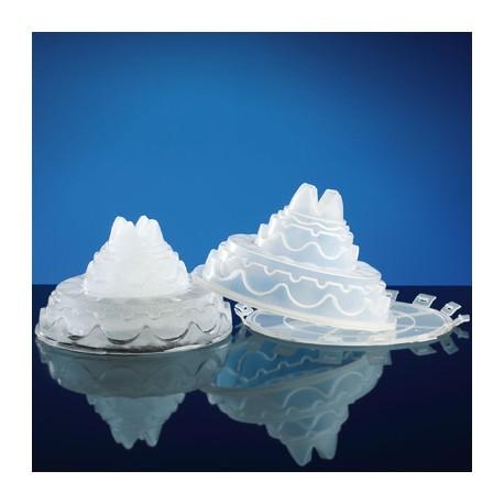 Escultura de hielo forma cake