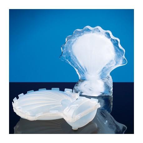 Escultura de hielo forma concha