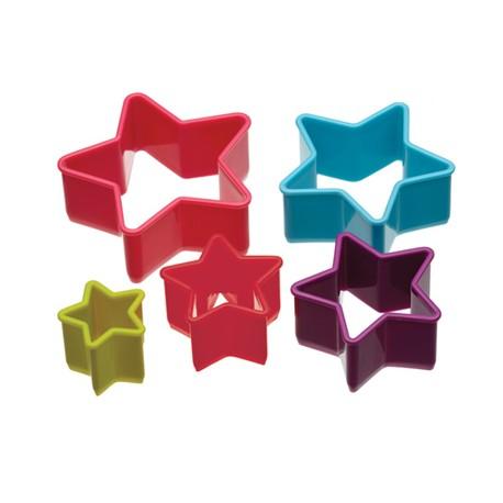 Set cortapastas forma estrella (5 uds)