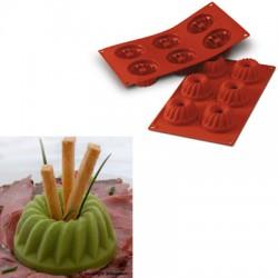 Molde silicona forma gugelhopf 6 cavidades