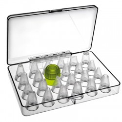 Juego boquillas de reposteria con adaptador
