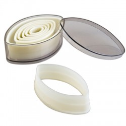 Cortapastas profesional oval liso (7 uds)