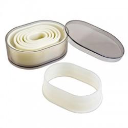 Cortapastas profesional oblongo liso (7 uds)