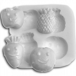 Molde para fondant frutas y verduras