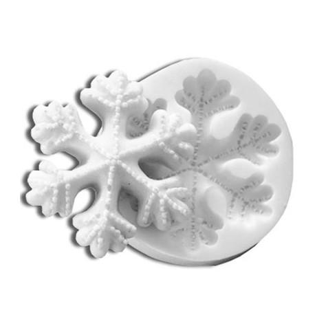 Molde para fondant copo de nieve