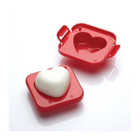 Molde para hacer huevos con forma de corazon