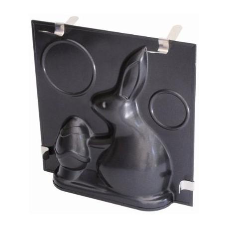 Molde en 3d forma conejo de pascua
