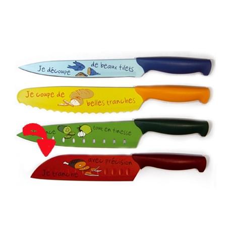 Cuchillo santoku rojo