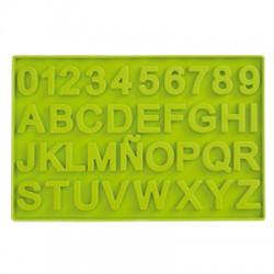 Molde chocolate letras y numeros
