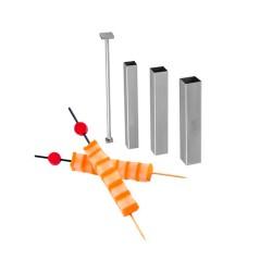 Kit cortadores cuadrados y pulsador