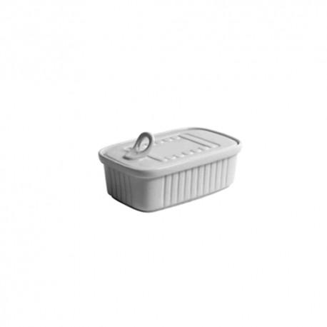 Lata rectangular para degustacion porcelana