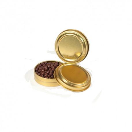 Latas falso caviar  doradas (3 uds)