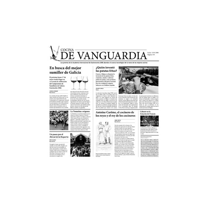 Papel periodico cocina de vanguardia for Tecnicas de vanguardia gastronomia
