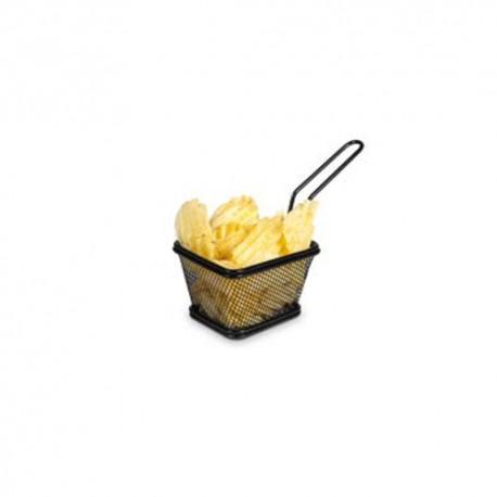 Basket chips cuadrada 10 cms Negra