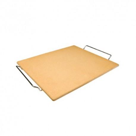 Piedra para pizza rectangular con soporte pequeña