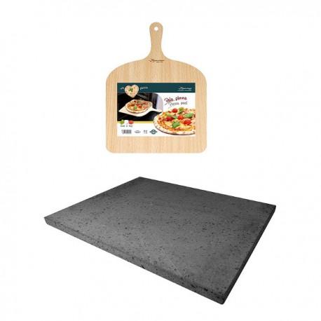 Piedra de lava volcanica para pan y pizza