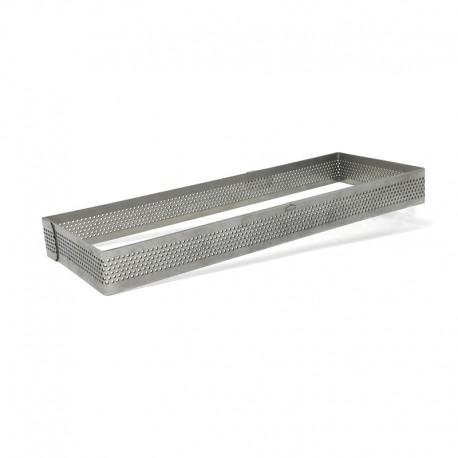 Aro para tarta rectangular perforado 20 Cms