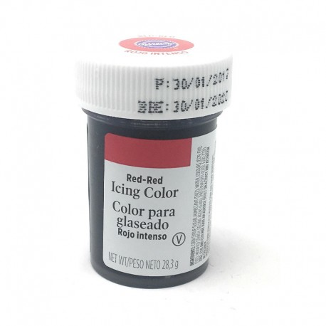 Colorante wilton rojo intenso