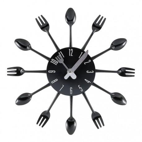Reloj de cocina negro