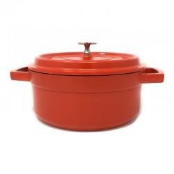Cacerola aluminio fundido color rojo en 20, 24 o 28 Cms