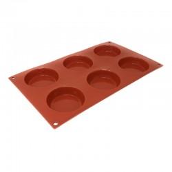 Molde silicona forma tartaleta 6 cavidades