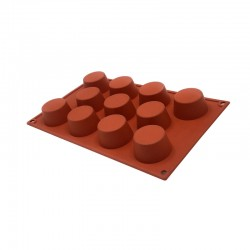 Molde silicona forma muffin 11 cavidades