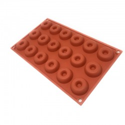 Molde silicona forma savarin 18 cavidades