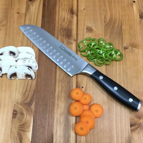 Cuchillo santoku 18 cms 3 claveles
