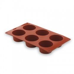 Molde silicona muffin 6 cavidades