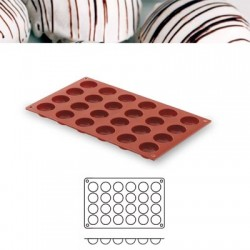 Molde silicona forma semiesfera 24 cavidades
