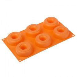 Molde silicona forma Donuts 6 cavidades