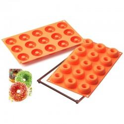 Molde silicona forma Donuts 18 cavidades