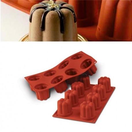 Molde silicona forma bordelais 8 cavidades