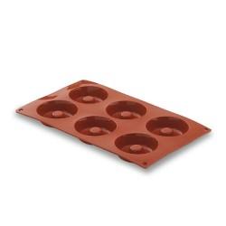 Molde silicona forma savarin 6 cavidades