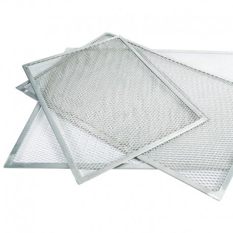 Rejilla pizza rectangular aluminio