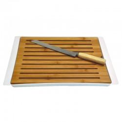 tabla madera cortar pan
