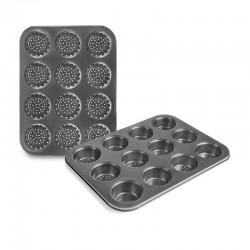 Bandeja perforada para muffins 12 cavidades