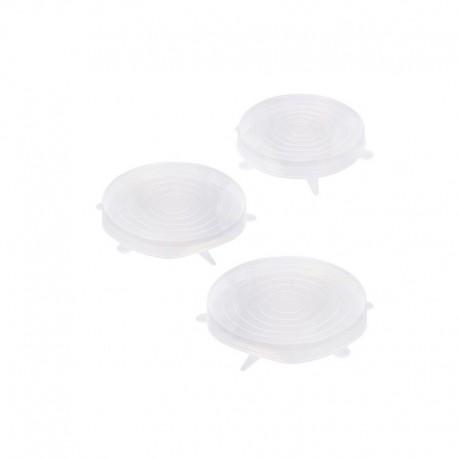 Set tapas de silicona redondas