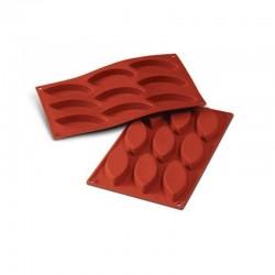 Molde silicona forma barquita 9 cavidades