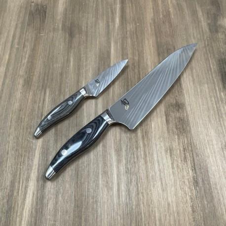 Set Cuchillo de Cocina y pelador Shun Nagare