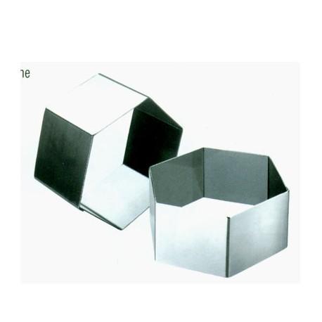 Aro emplatar forma hexagono 8 cms