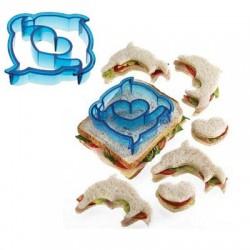 Molde para hacer sandwichs forma delfines