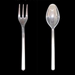 Cuchara y tenedor degustacion mini (100 uds)