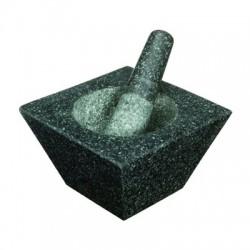 Mortero de marmol cuadrado 19 cms