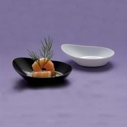Platillo semi oval para degustacion (12 uds)