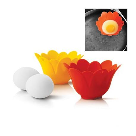 Molde de silicona para huevos escalfados (2 uds)