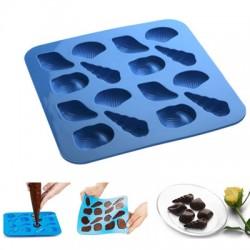 Molde para bombones conchas de silicona