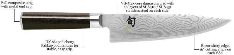 cuchillos de cocina shun